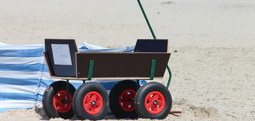 Best Beach Cart with Large Balloon Tires